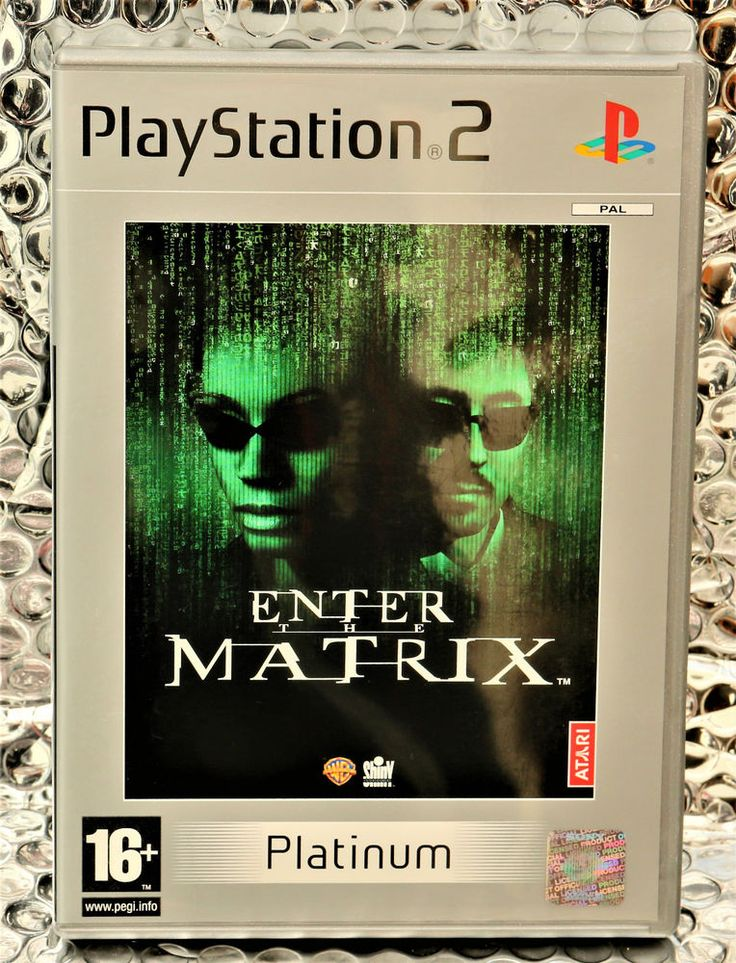 PLAYSTATION 2 ENTER THE MATRIX PLATINUM EDITION GAME PS2 GAMING   COMPLETE