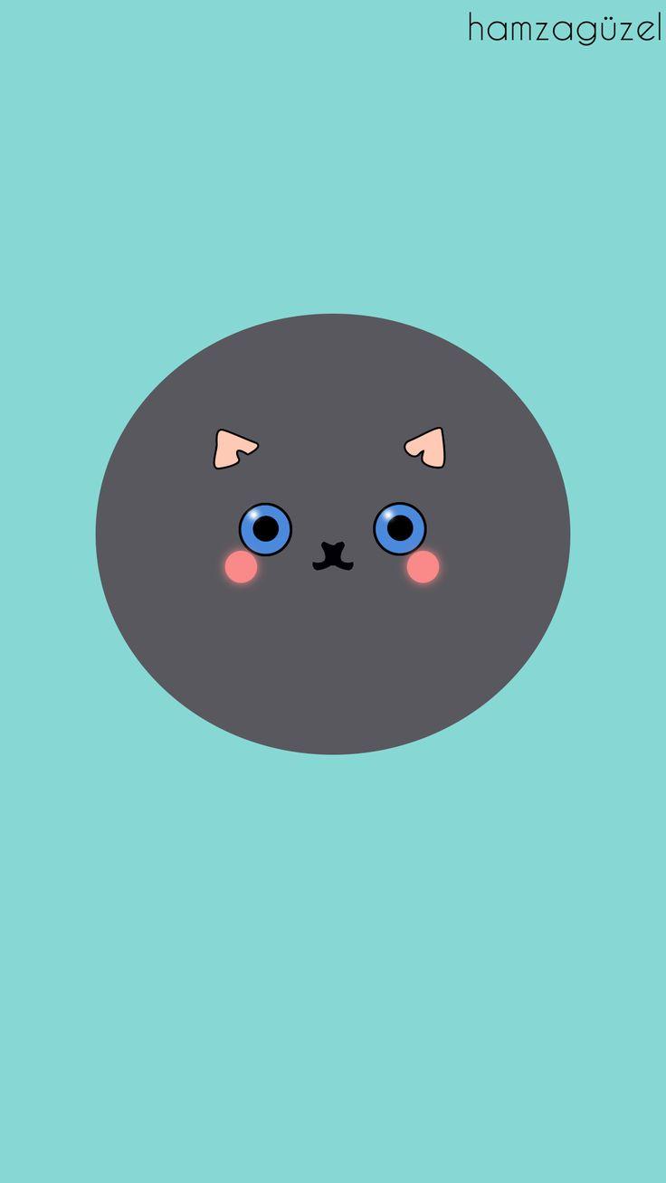 Kedi minimalist duvarkağıdı.   Behance :behance.net/gallery/38829231/Cat-Minimalist  #cat #cutty #minimalist #wallpaper #hamzaguzel #agackakanfani