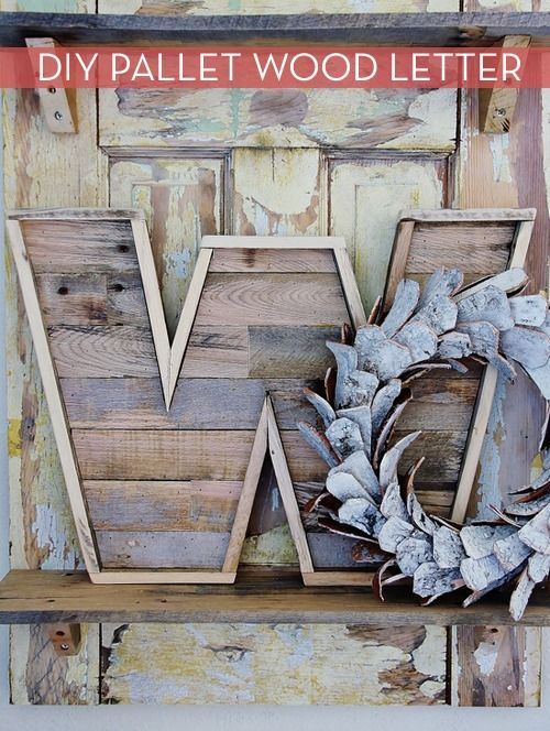 How to create letters from wooden pallet