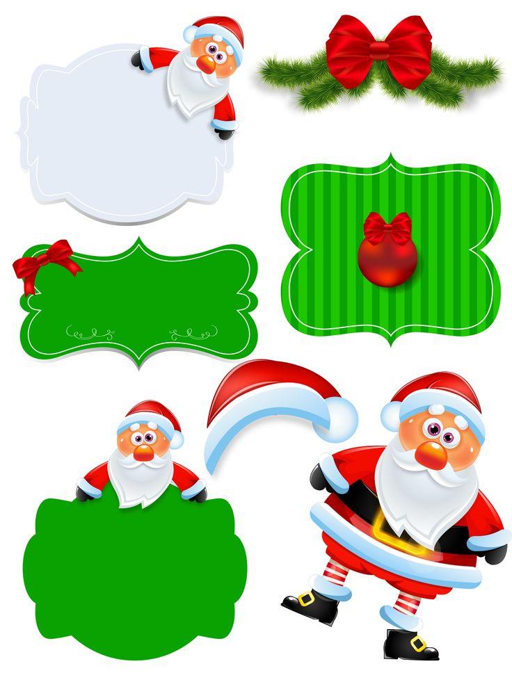 Enfeites para o natal com fundo transparente em PNG e 300DPI. Papai Noel, guirlanda toca papai noel e muito mais.