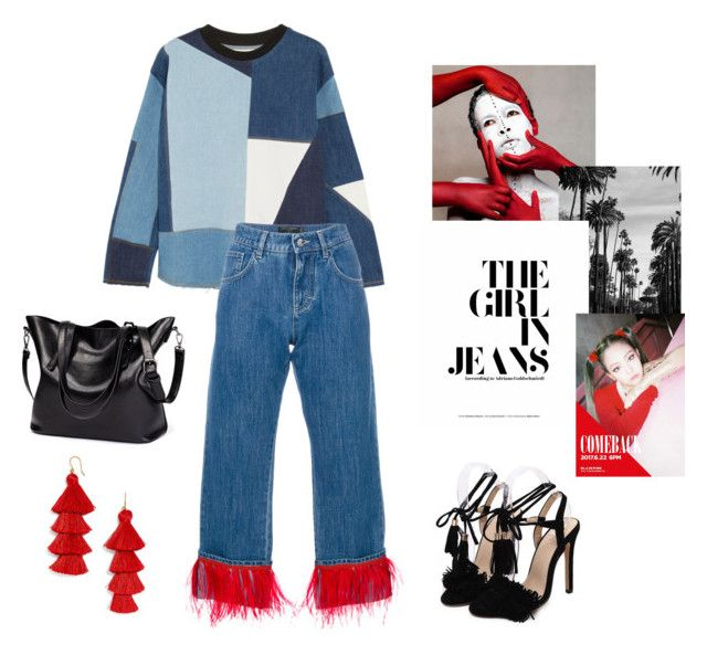 """""""On Fridays we wear jeans and red"""" by marylove433 on Polyvore featuring мода, Victoria, Victoria Beckham и Dolce&Gabbana"""
