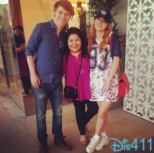 Photo: Bella Thorne With Raini Rodriguez And Calum Worthy February 23, 2014