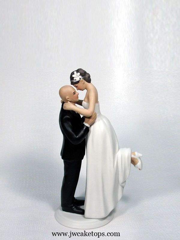 17 Best Images About Bald Grooms Wedding Cake Toppers On