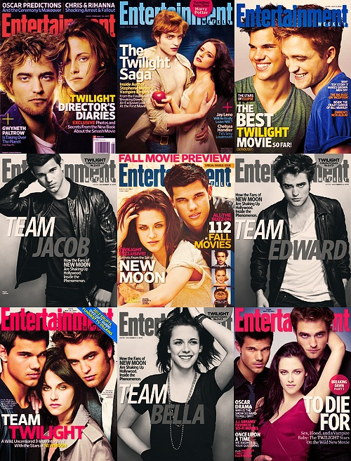 Entertainment Weekly's #Twilight covers