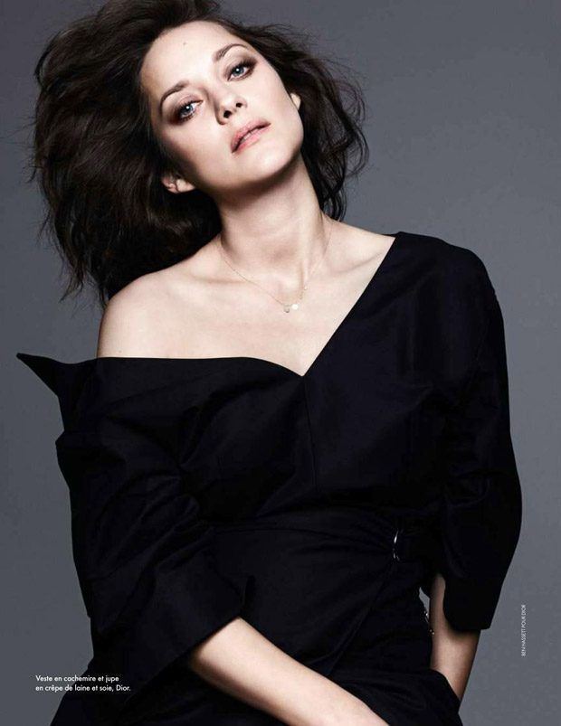 Elle France Marion Cotillard for the cover story of their latest edition captured by fashion photographer Ben Hassett.