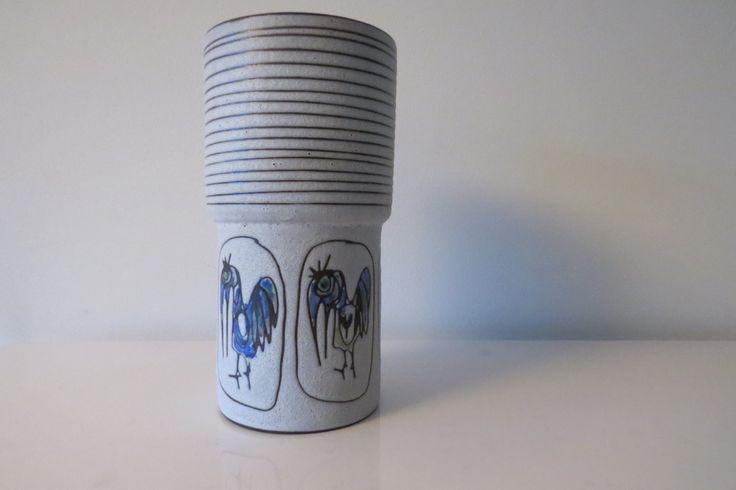Dutch Midcentury vase- De Groenekan - 60s door Leerdamart op Etsy