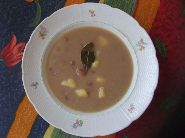 Brown bean soup with potatoes