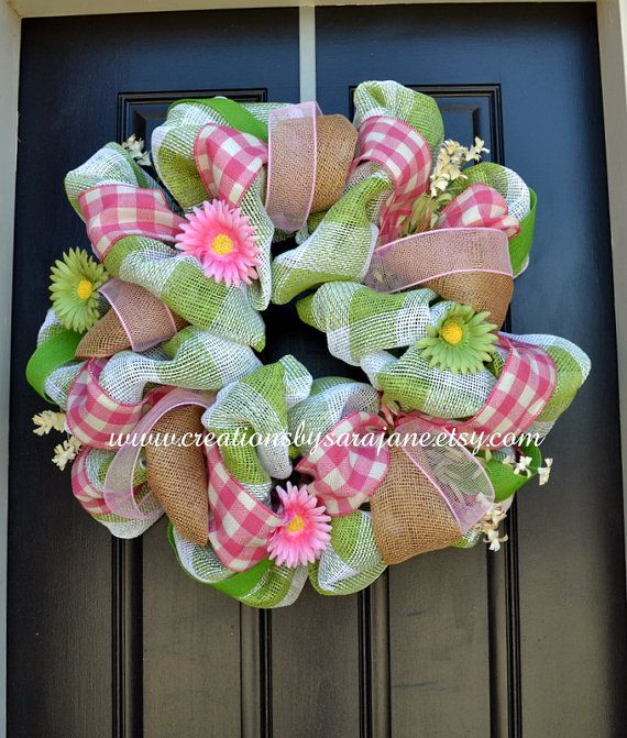 Hey, I found this really awesome Etsy listing at http://www.etsy.com/listing/127738156/spring-easter-mesh-wreath-with-burlap