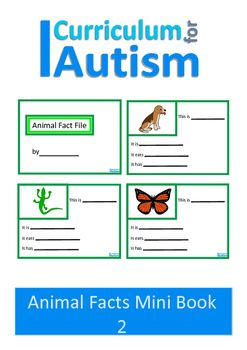 Animal Fact File Mini Book Set 2 for students with Autism who enjoy memorizing animal facts.This set contains a cover page for the students and 12 pages with pictures of an animal. On each page they can write the name of the animal, where it lives, what it eats and what it has.Students can make 2 mini books of 6 pages each or 1 book of 12 pages.This set is also available here along with the other 3 sets for a bargain bundle price of only $4.50You may also like:Animal Clue CardsAnimal…