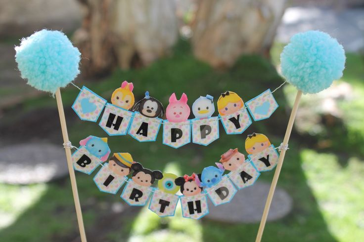 Tsum Tsum Cake Topper by Kaskarrabias on Etsy