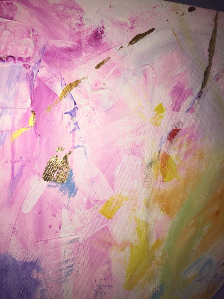Abstract acrylic by Rebecca Barker