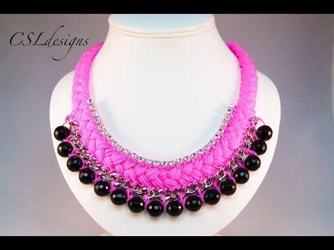 Fashion statement collar necklace - YouTube