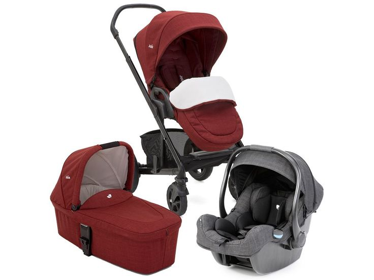 Joie Chrome Cranberry Travel System with iGemm Car Seat in Pavement