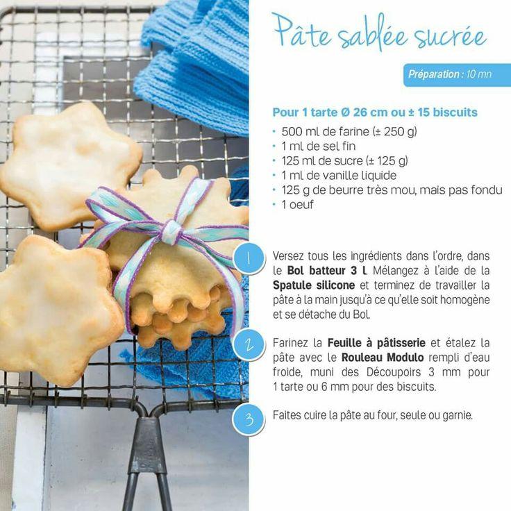 Tupperware - Pâte sablée sucrée