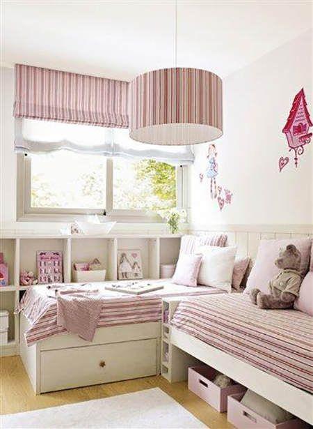 Almacenaje en habitaciones infantiles: cajones debajo de la cama #almacenaje #ninos