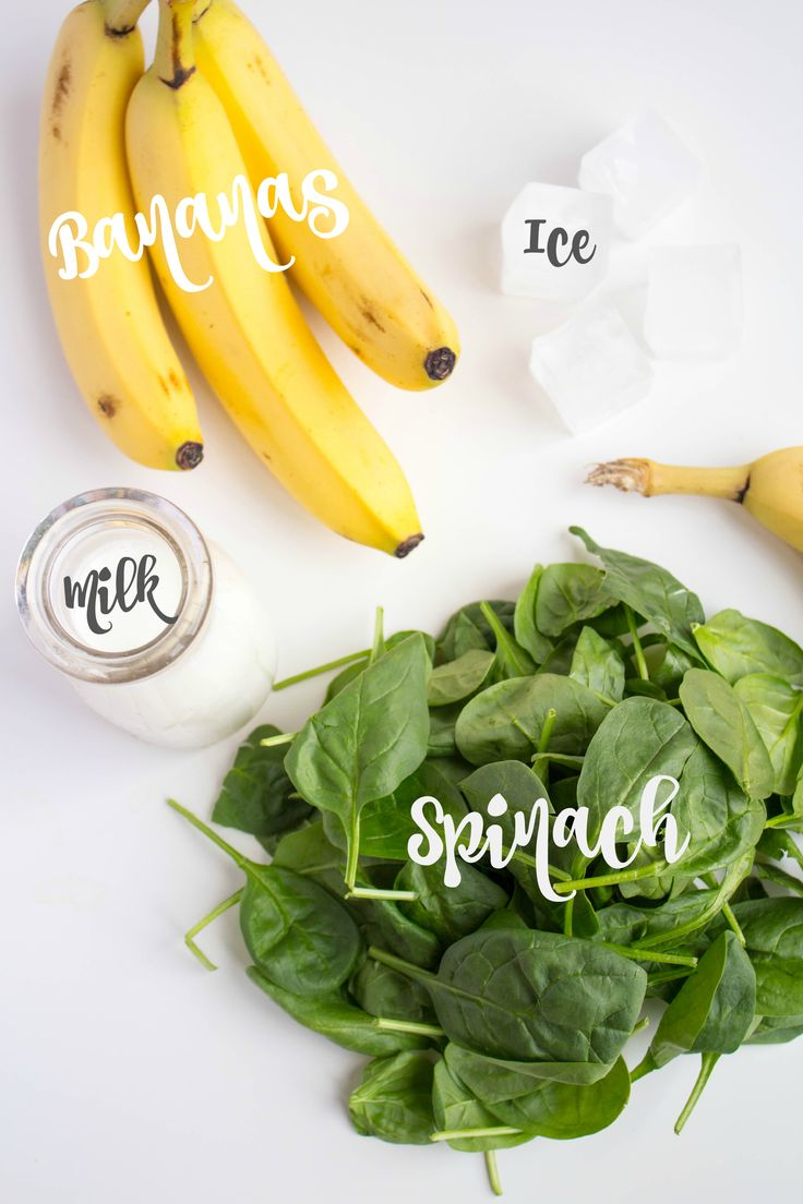 banana spinach smoothie ingredients