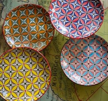 Ceramic Hand-Painted Plates eclectic-dinner-plates