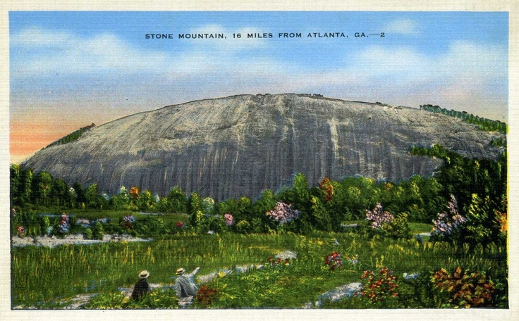 Stone mountain before the memorial carving in
