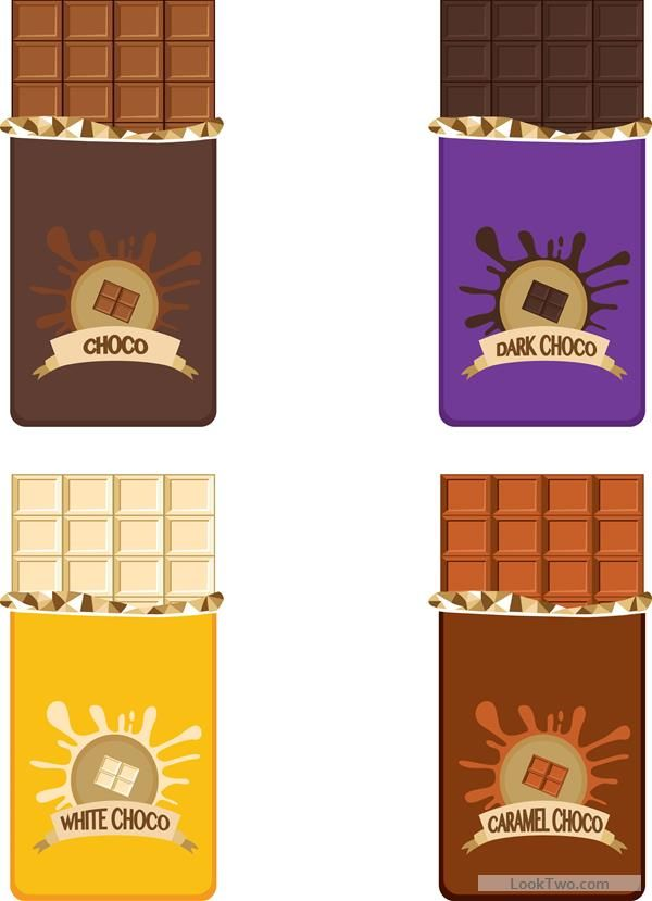 Delicious chocolate bar vector design 05 free vector download