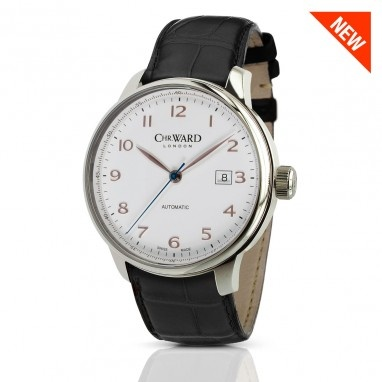 C9 Harrison Automatic watch with Black Leather Strap, C9-AUTO-SGWK - Christopher Ward