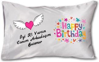 Doğum Günü - İyi ki Doğdun Kendin Tasarla - Yastık 45 x 27 x 10 cm