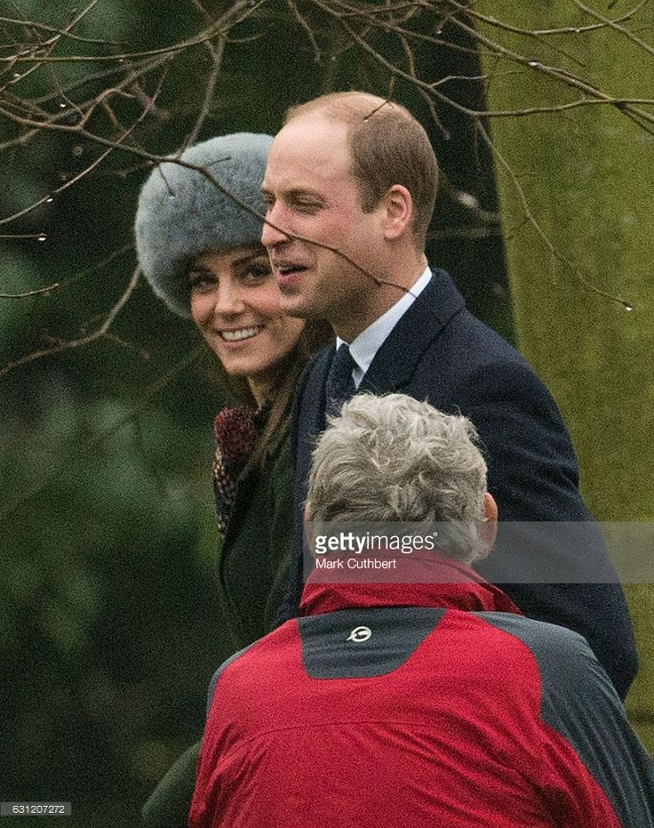 TRH The Duke and Duchess of Cambridge attend St Mary Magdalene Church at Sandringham on January 8, 2017 in King's Lynn, England.  (Photo by Mark Cuthbert/UK Press via Getty Images)