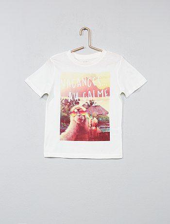 5b6714e0e Camiseta estampada de algodón puro - Kiabi