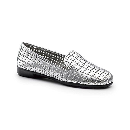 Aerosoles SureGrip Womens You Betcha SG Silver Work Shoes * Visit the image  link more details.