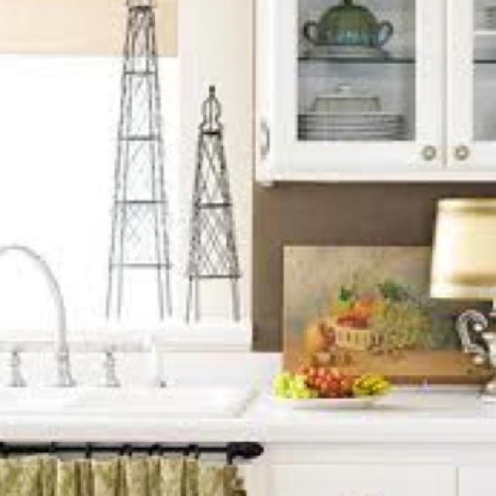 Skirted Sink Kitchen : sink skirt on rod Interiors - Kitchen 2 Pinterest Sink Skirt ...