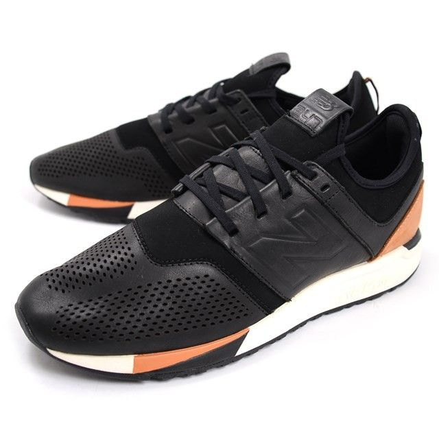 New Balance 247 Luxe Leather Mens Running Shoes Black Brown Mrl247bl Running Shoes For Men Black Running Shoes New Balance Men