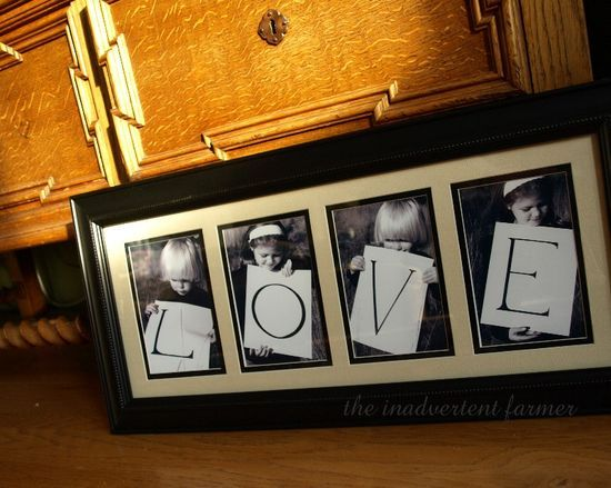 "REVIEW: Grandparents gift. Did this with my daughter to spell ""NANA"".. was very easy to do, bought wooden letters which were a bit pricey, and got the frame on sale at Michaels. It turned out amazing and everyone loved it!! DO FOR MOM ONE DAY WITH ""NANA"""