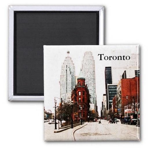 Toronto flat iron building refrigerator magnet