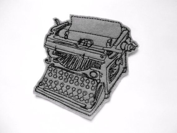 Iron On Patch Typewriter Applique. $5.00, via Etsy.