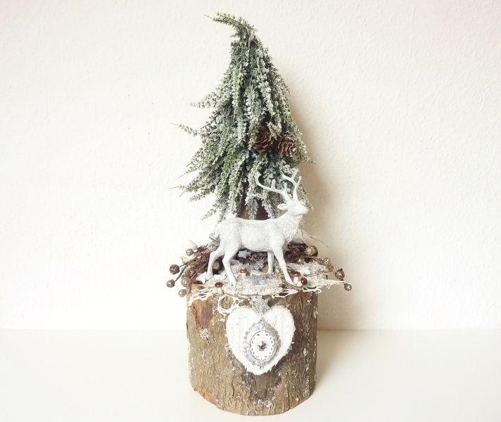 """Winterdeko """"Der Hirsch ruft"""" Weihnachten Wald urig von Red Banshee auf DaWanda.com"""