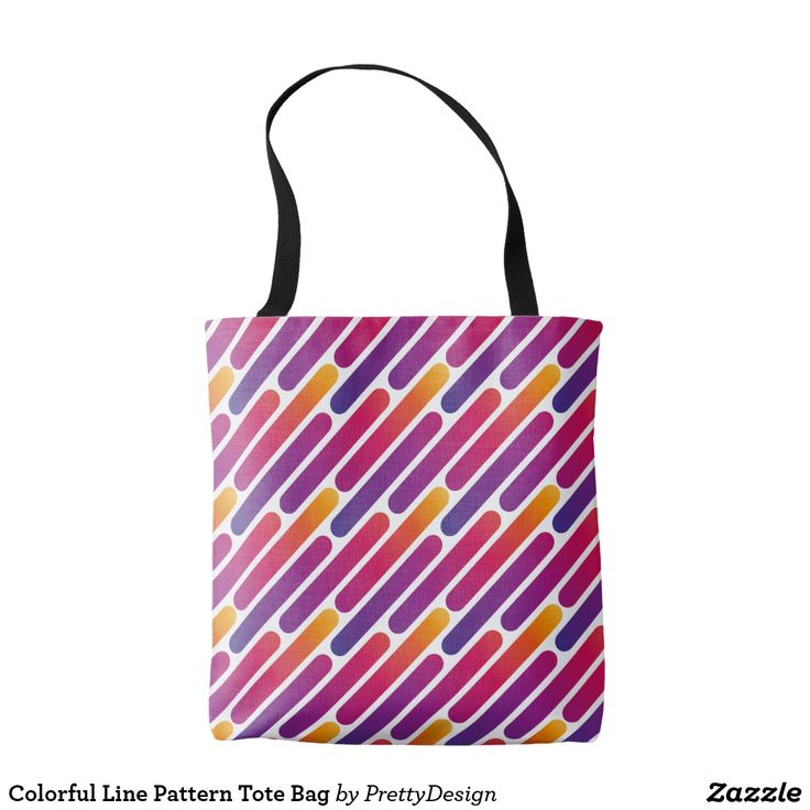 Colorful Line Pattern Tote Bag