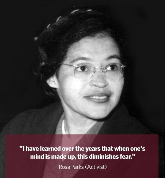 rosa parks an activist essay After the civil war and through the civil rights era of the 1950s, racial segregation laws made life for many african americans extremely difficult rosa parks—long-standing civil rights activist and author—is best known for her refusal to give up her seat to a white bus passenger, sparking the.