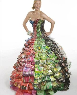 Dress Made Of Cans Of Food