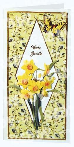 3D-Die-Cuts Flowers, Size A4, Blanket Flowes, Slippers, Narcissus-82108