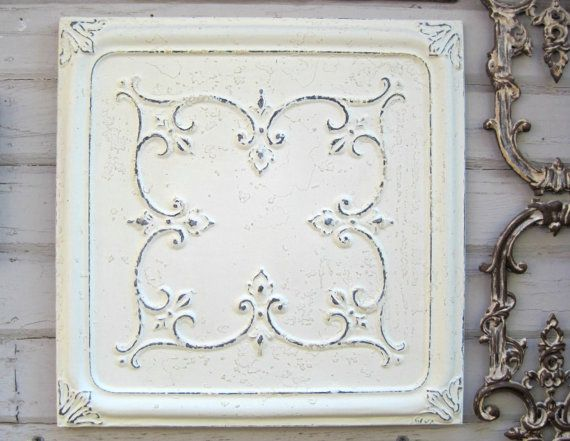77 best antique tin ceiling tiles in whites images on pinterest
