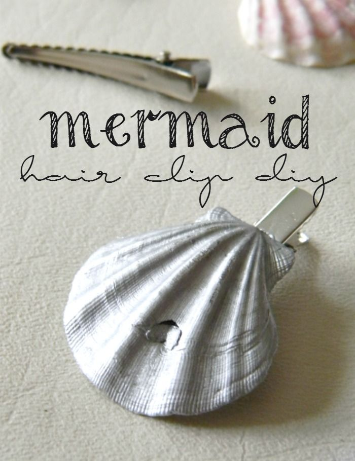 If you love summer hair and mermaids, you will love making this hair clip DIY.
