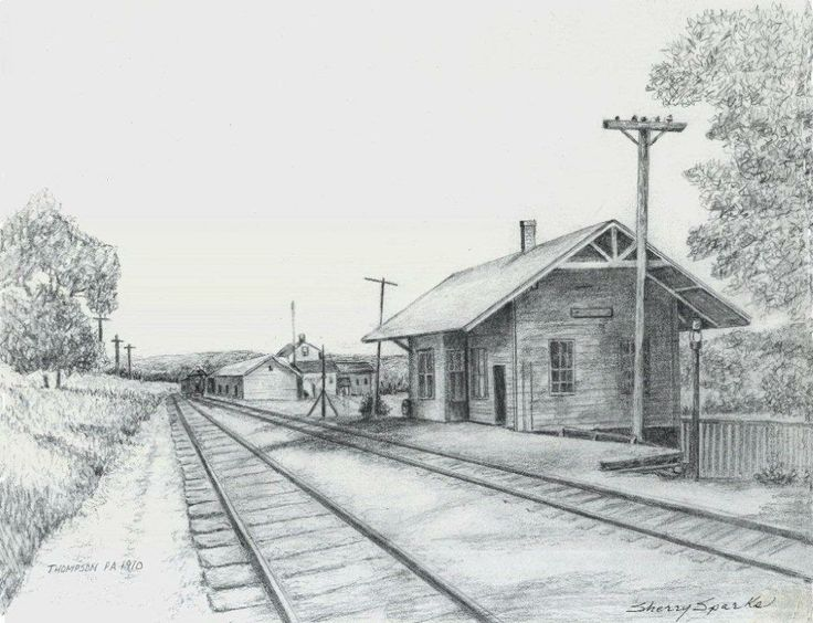 Thompson Railroad Station Pen Amp Ink Drawing Sherry