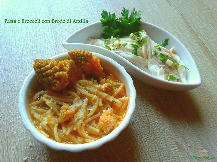 la Pasta e Broccoli con brodo di Arzilla è veramente una ricetta gustosissima e leggera,
