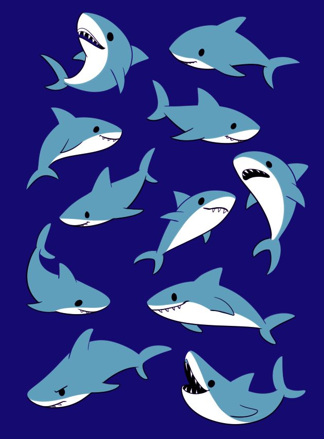 STUTTERHUG. Shark illustration, Cute shark, Shark art