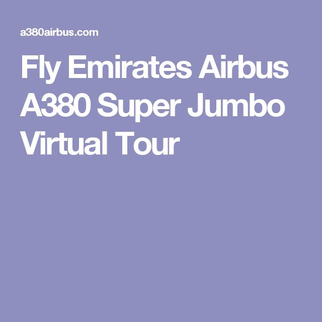 Fly Emirates Airbus A380 Super Jumbo Virtual Tour