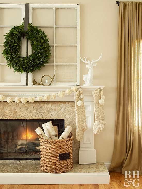 Decorate Your Mantel for Christmas Christmas Pinterest