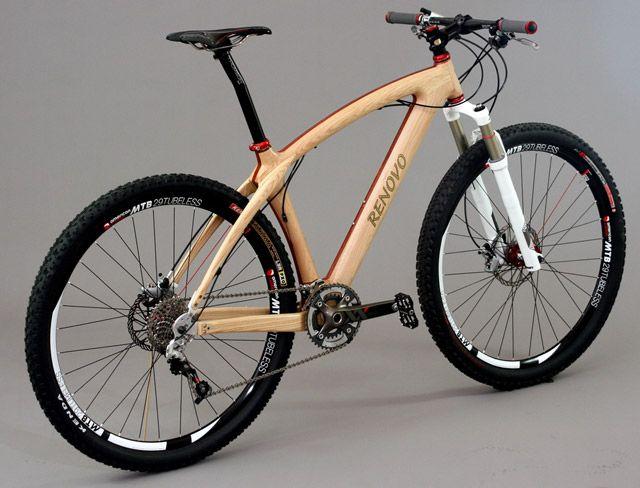 Wood frame Mt. Bike