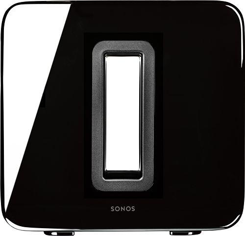 Sonos - SUB Wireless Subwoofer - Black - Larger Front