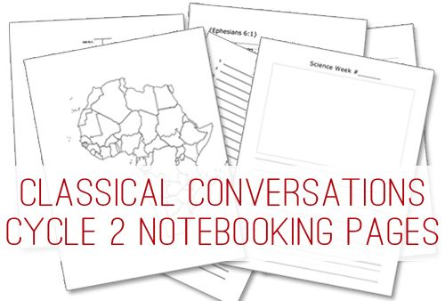 Classical Conversations Cycle 2 Notebooking Pages