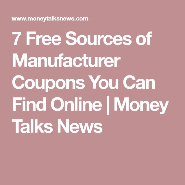 7 Free Sources of Manufacturer Coupons You Can Find Online | Money Talks News