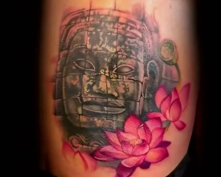 omg this will be my next tattoo photo realistic tattoo of smiling buddha face from siem reap. Black Bedroom Furniture Sets. Home Design Ideas